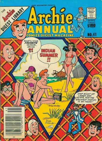 Archie Annual Digest 41 - The Archie Digest Library - No 41 - 100 - Indian Summer - Beach