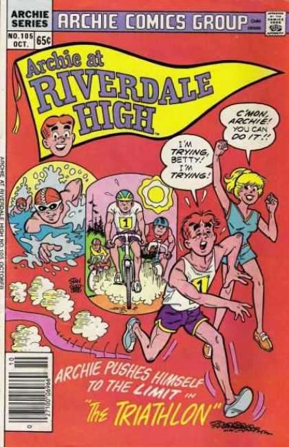 Archie at Riverdale High 105 - Swimming - Competition - Betty - Running - Biking - Stan Goldberg