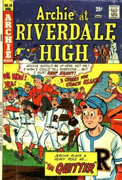 Archie at Riverdale High 18 - Archie Series - Seep Silent - Coach Kleats - Won - Baseball