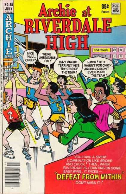 Archie at Riverdale High 55 - Defeat From Within - Chuck - Veronica - Basketball - Archie