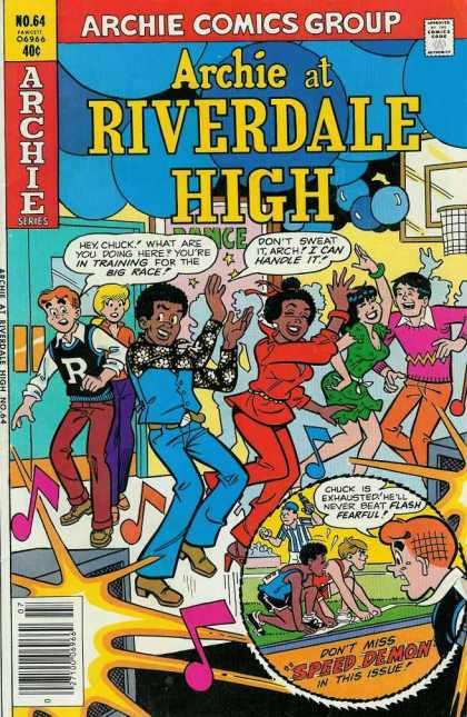 Archie at Riverdale High 64 - Dance - Dancing - Black Guy And Girl - Baloons - School