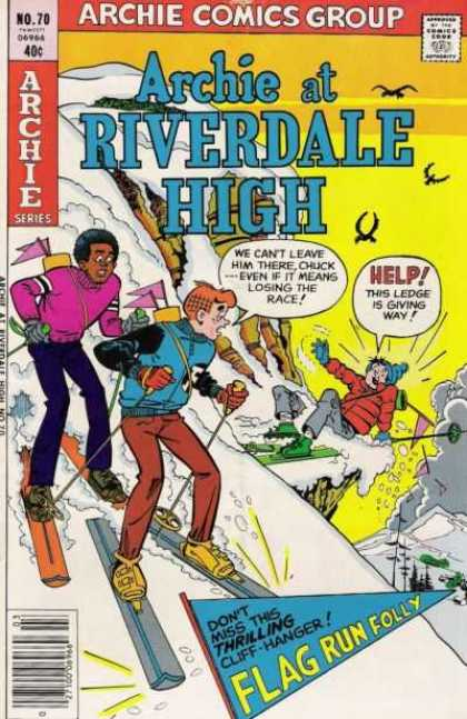 Archie at Riverdale High 70 - Snow - Cliff - Skis - Ski Poles - Flags
