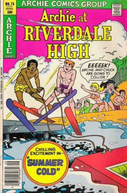 Archie at Riverdale High 75 - Archie Comics Group - Approved By The Comics Code - Man - Water - Skies - Stan Goldberg