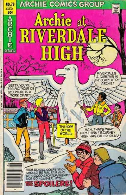 Archie at Riverdale High 79 - Betty - Ice Sculpture - Bird - Full Moon - Spoilers - Stan Goldberg