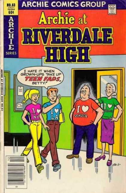 Archie at Riverdale High 83 - Archie Comics - No83 - Totally Fads - Classic - Grown-ups Are Uncool - Stan Goldberg