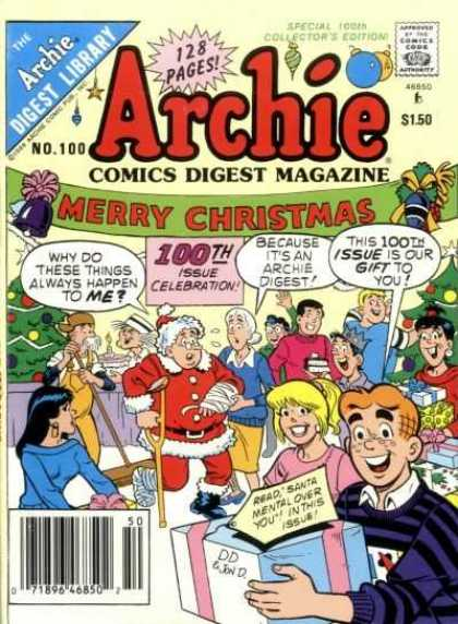 Archie Comics Digest 100 - Merry Chirstmas - Injured Santa - Gifts - Collectors Edition - Party - Jon D'Agostino
