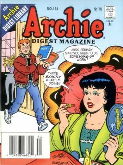 Archie Comics Digest 134 - Digest Library - Woman - Man - Lipstick - Book