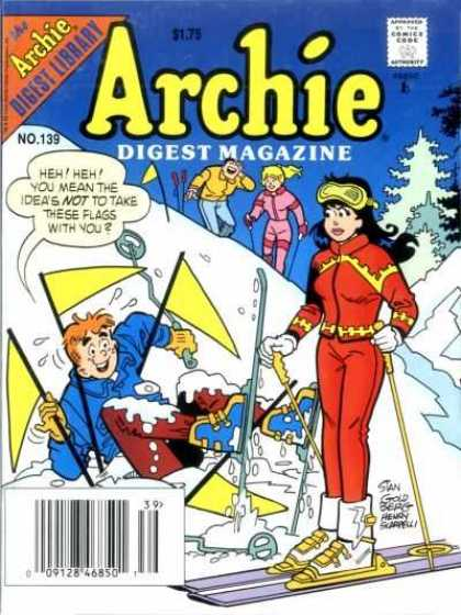 Archie Comics Digest 139 - Snow - Skiing - Flags - Veronica - Betty