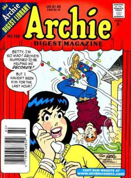 Archie Comics Digest 160 - Approved By The Comics Code - Woman - Man - Visit Our Website - Betty Im So Mad