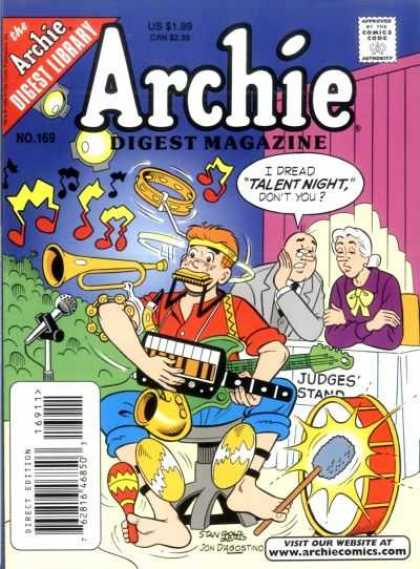 Archie Comics Digest 169 - Digest Library - Talent Night - Music - Boy - Woman