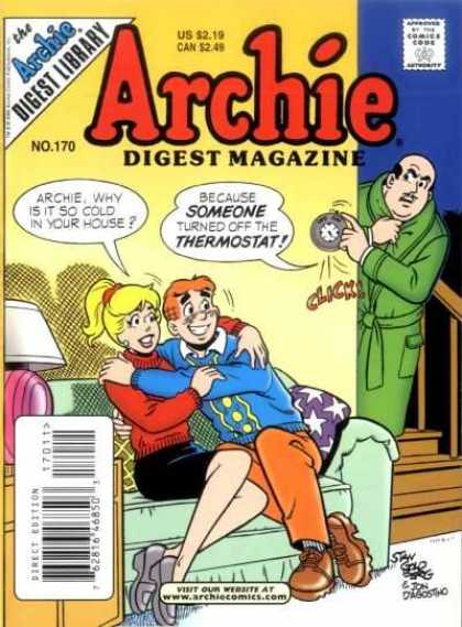 Archie Comics Digest 170 - Betty - Thermostat - Lamp - Couch - Stairs