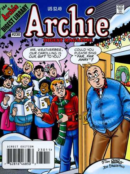 Archie Comics Digest 230 - Snow - Charolers - Christmas - Singers - Old Man