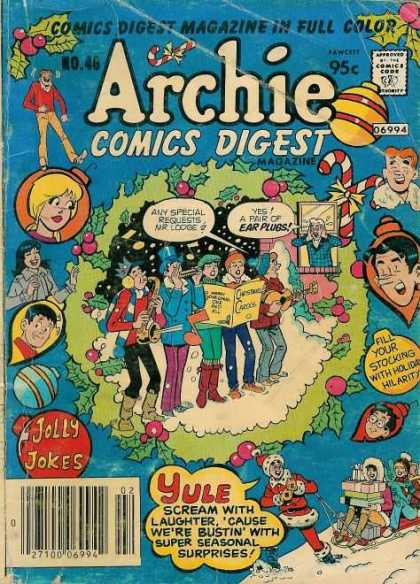 Archie Comics Digest 46 - Comics Digest Magazine - Christmas - Jolly Jokes - Betty - Archie