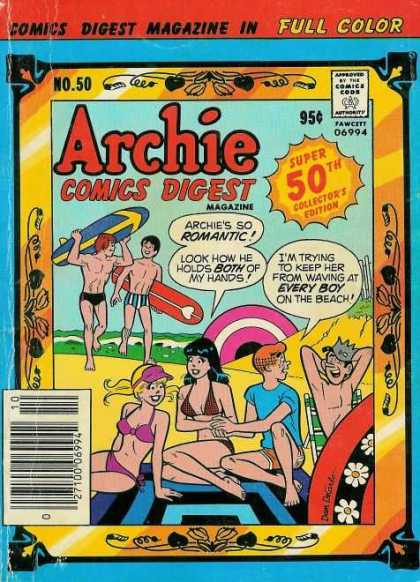 Archie Comics Digest 50 - Surfboards - Jughead - Super 50th Collectors Edition - Beach - Water