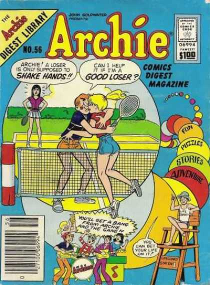 Archie Comics Digest 56 - Tennis - Kiss - Lifeguard In Chair - Band - Bubbles