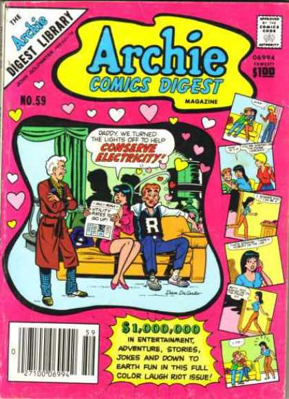 Archie Comics Digest 59 - Laugh - Veronica - Mr Lodge - Father - Kisses
