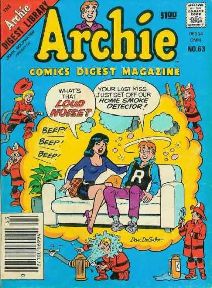 Archie Comics Digest 63 - Loud Noicce - Home Smoke Detector - Digest Library - Ladder - Beep