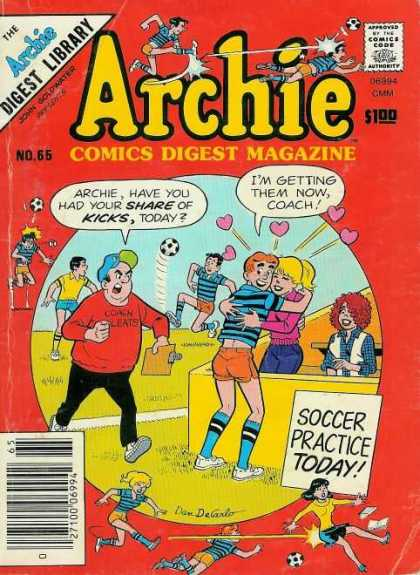 Archie Comics Digest 65 - Library - No 66 - Soccer Practice Today - Gmm - Coach
