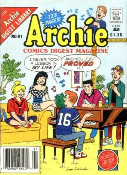 Archie Comics Digest 91 - No91 - 128 Pages - Archie - Top Rated - The New Archies