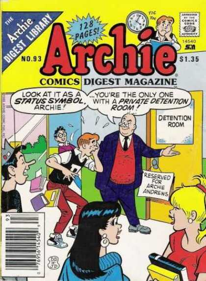 Archie Comics Digest 93 - Archie - Comics Digest Magazine - Archie Andrews - The Archie Digest Library - Private Detention Room