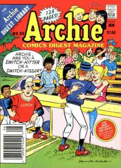 Archie Comics Digest 96 - Compliation - Issue 96 - Baseball - Kissing - Classic Comics