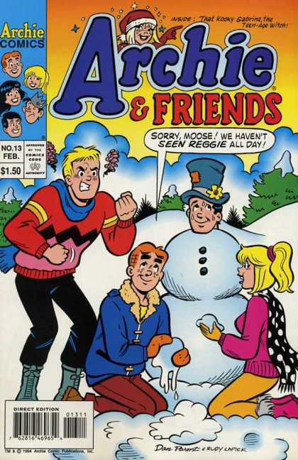 Archie & Friends 13 - Moose - Reggie - Snowman - Top Hat - Coal