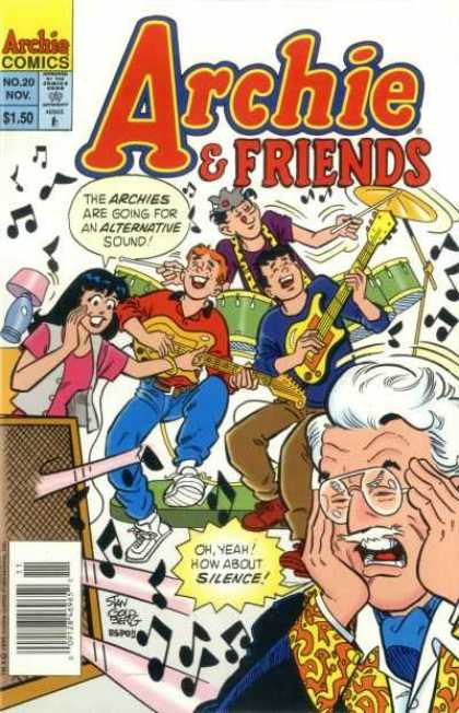 Archie & Friends 20 - Archie Comics - No 20 Nov - 150 - Stan Cold Berg - The Archies Are Going For Alternative Sound