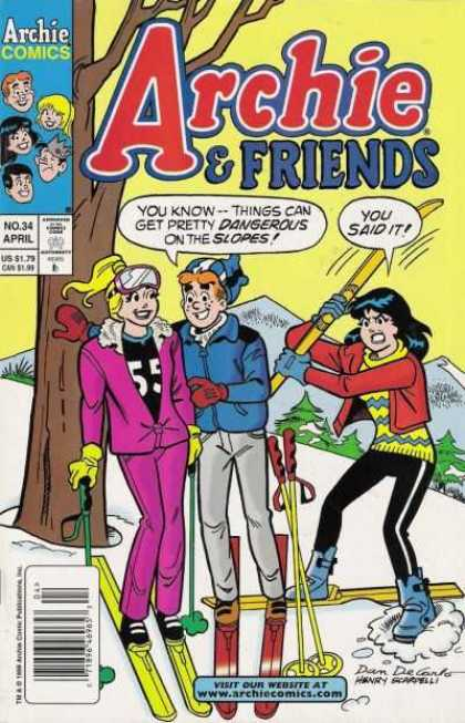 Archie & Friends 34 - Archie Comics - Man - Woman - Tree - Snow
