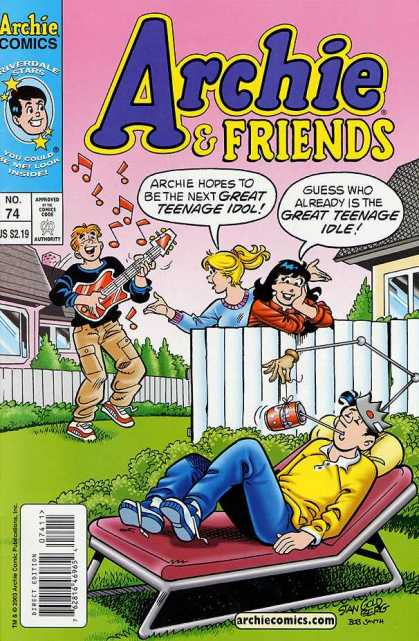 Archie & Friends 74 - Girls - Fence - Guitar - Music Notes - Lawn Chair