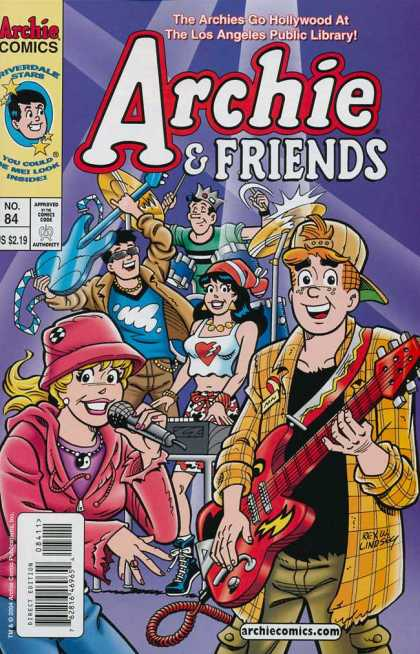 Archie & Friends 84 - Los Angeles Public Library - Jughead - Veronica - Betty - Guitar
