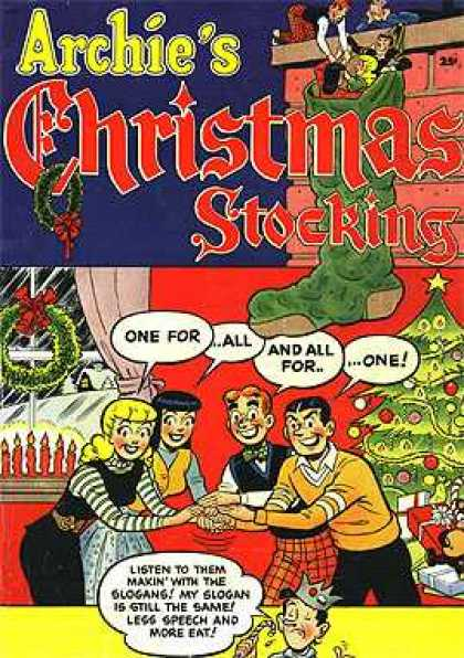 Archie Giant Series 1 - Christmas Tree - Wreath - Stocking - One For All And All For One - Candles