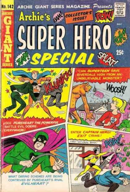 Archie Giant Series 142 - Heroes - People - Rope - Stick - Fighting