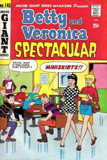 Archie Giant Series 145 - Approved By The Comics Code - Miniskirts - Woman - Man - Chair