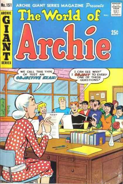 Archie Giant Series 151 - Teacher - Test - Class Room - Students - High School