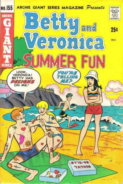 Archie Giant Series 155 - Giant Series Magazine - Approved By The Comics Code - Woman - Beach - Sea