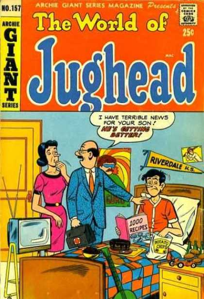Archie Giant Series 157 - Teens - Sick - Tyipical Teen - Growing Up - Girl Troubles