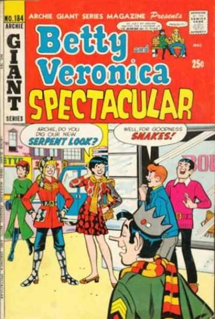 Archie Giant Series 184 - Spectacular - Serpent Look - Snakes - Two Girls - Two Boys Laughing