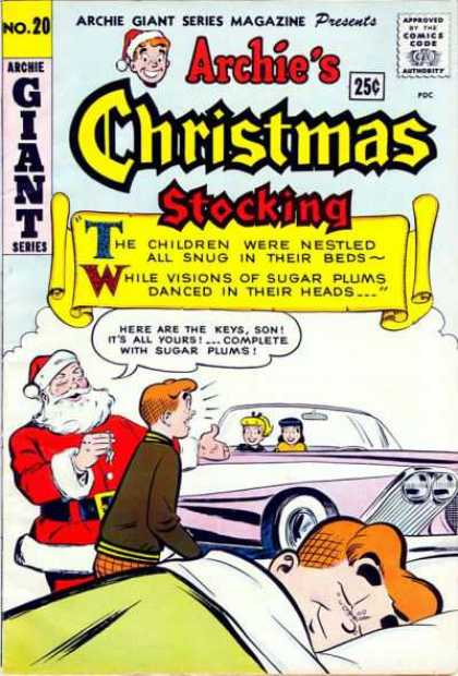 Archie Giant Series 20 - Santa Claus - Pink Car - Betty - Veronica - Bed