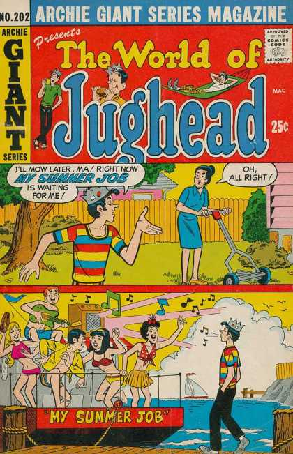 Archie Giant Series 202 - Jughead - Summer Job - Mowing - Party - Sea