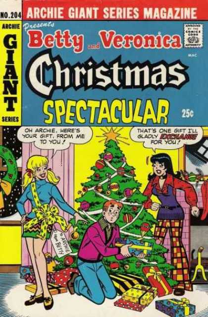 Archie Giant Series 204 - Christmas Confusion - Jealous Friend - Girly Gifts Galore - Confused Guy - Special Girlfriends Gift