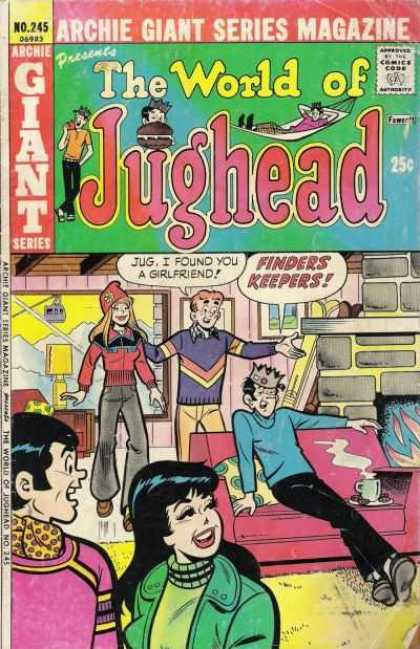 Archie Giant Series 245 - Giant - Jughead - Girlfriend - Finders Keepers - Pink Couch