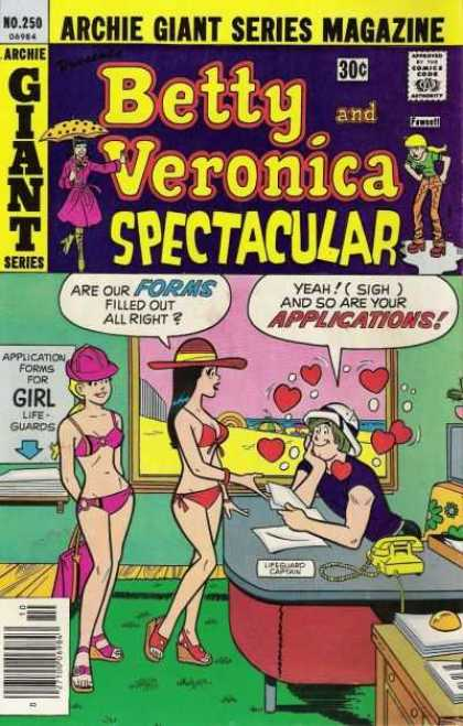 Archie Giant Series 250 - Forms - Betty And Veronica - Applications - Bikinis - Girl Lifeguards