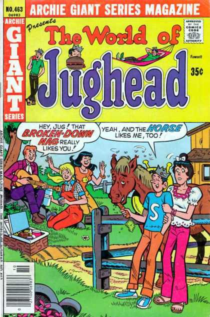 Archie Giant Series 463 - The World Of Jughead - Jughead - Veronica - Horse - Farm