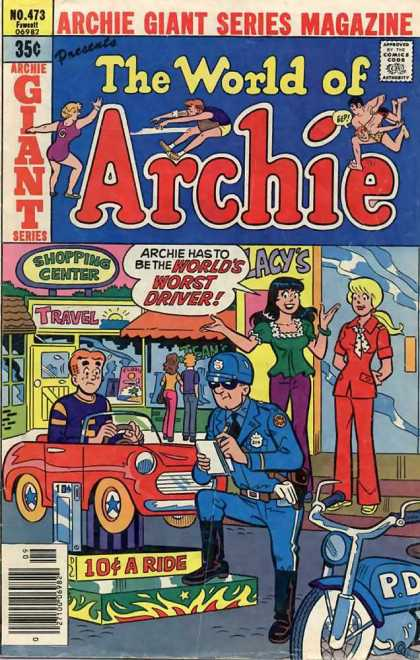 Archie Giant Series 473 - Car - Police - Motor - Mirror - People
