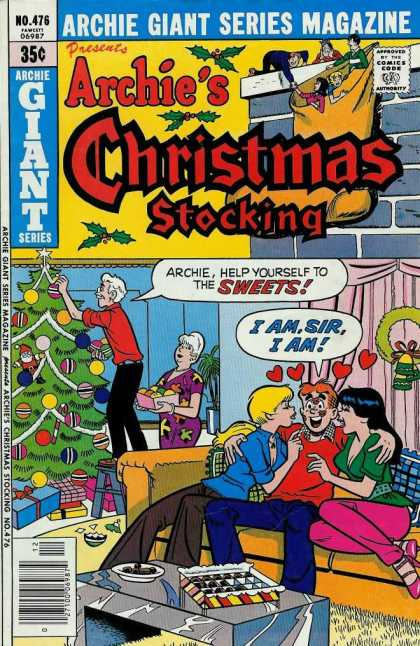 Archie Giant Series 476 - Christmas Tree - Christmas Stocking - Girls - Kisses - Presents