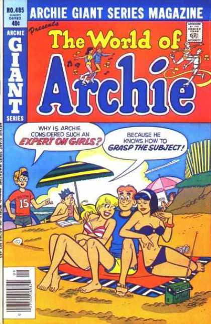 Archie Giant Series 485 - Why Is Archie Considered Such An Expert On Girls - Because He Knows How To Grasp The Subject - Radio - Sea - Beach