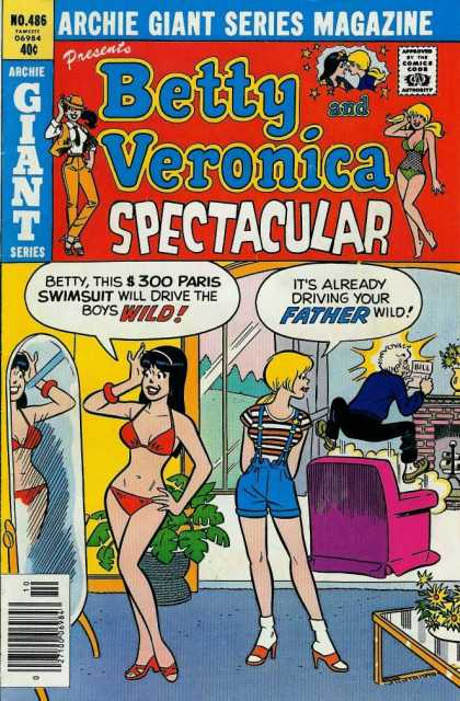 Archie Giant Series 486 - Betty Veronica - Spectacular Guys - Glamour Lady - Dare Man - Thinking People