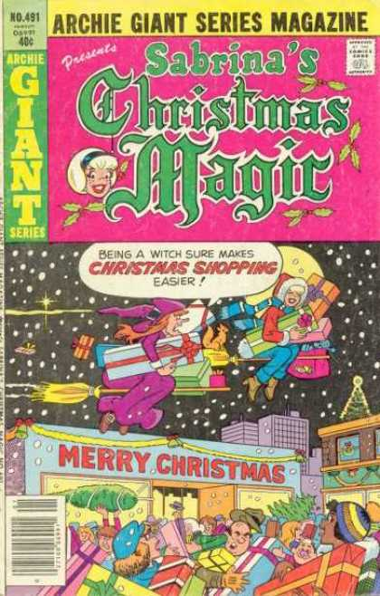 Archie Giant Series 491 - Sabrinas Christmas Magic - Issue 491 - Christmas Shopping - Sabrina Shops With A Witch - Merry Christmas