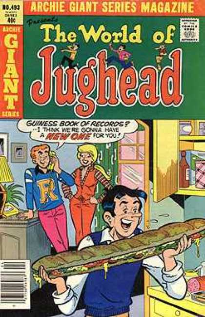 Archie Giant Series 493 - Laugh - Archie - Sandwich - Betty - Guiness Book Of Records