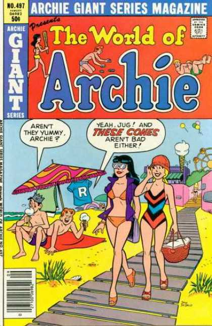 Archie Giant Series 497 - Archie - Cones - Yummy - On The Beach - Carnival